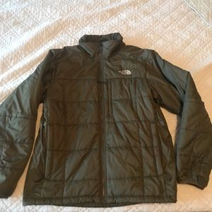 The North Face men's olive green coat size L